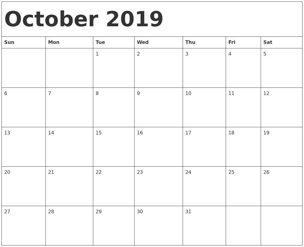 Monday Through Friday Calendar Template Word 2018