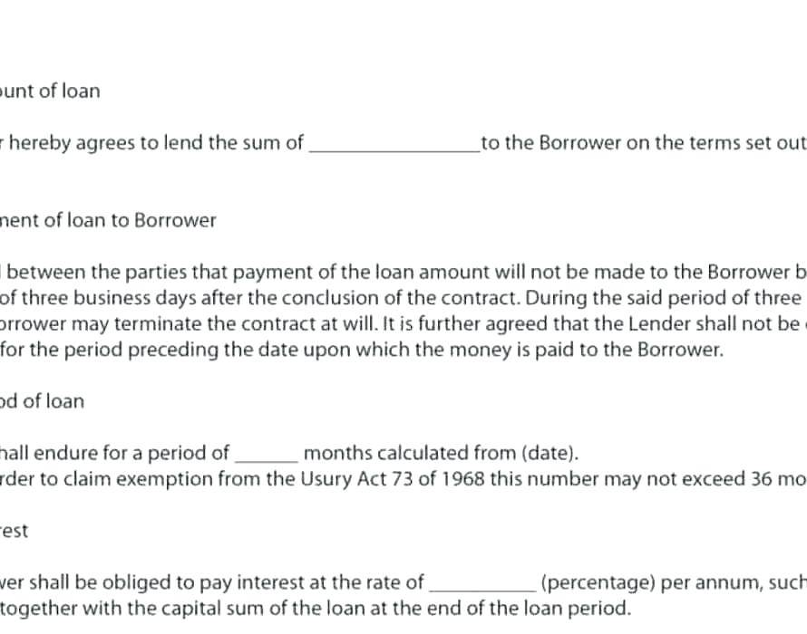 Money Repayment Contract Template