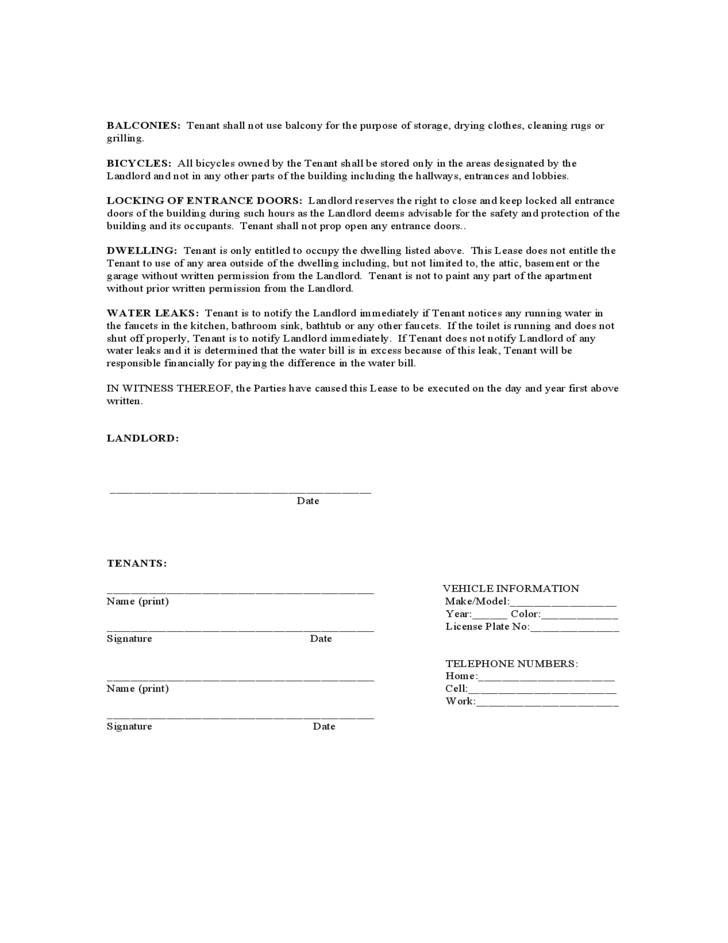 Month To Month Lease Agreement Template Texas