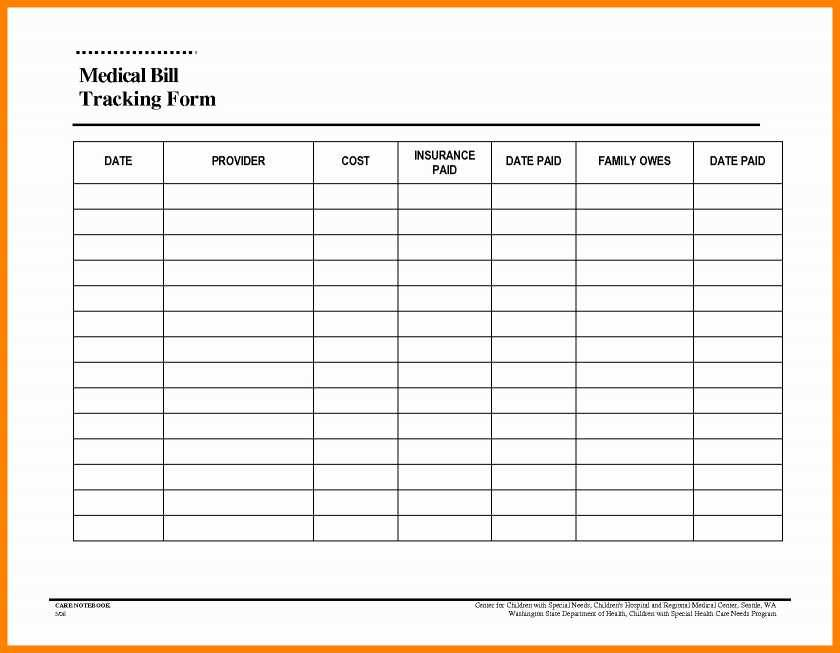 Monthly Bill Payment Spreadsheet Template