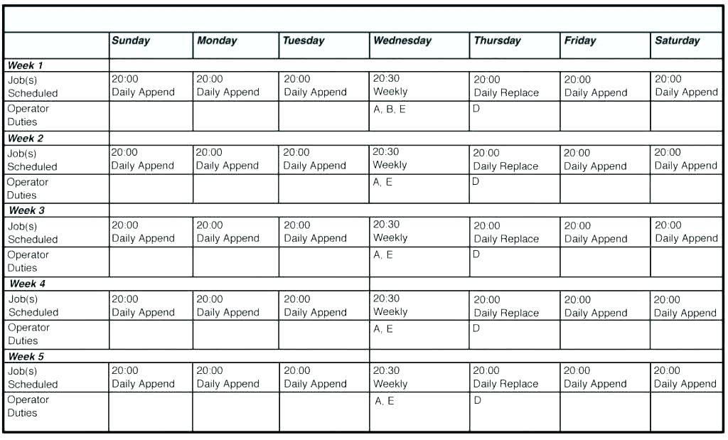 Monthly Employee Schedule Template Download