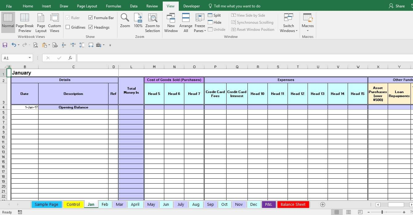 Monthly Expense Report Format In Excel