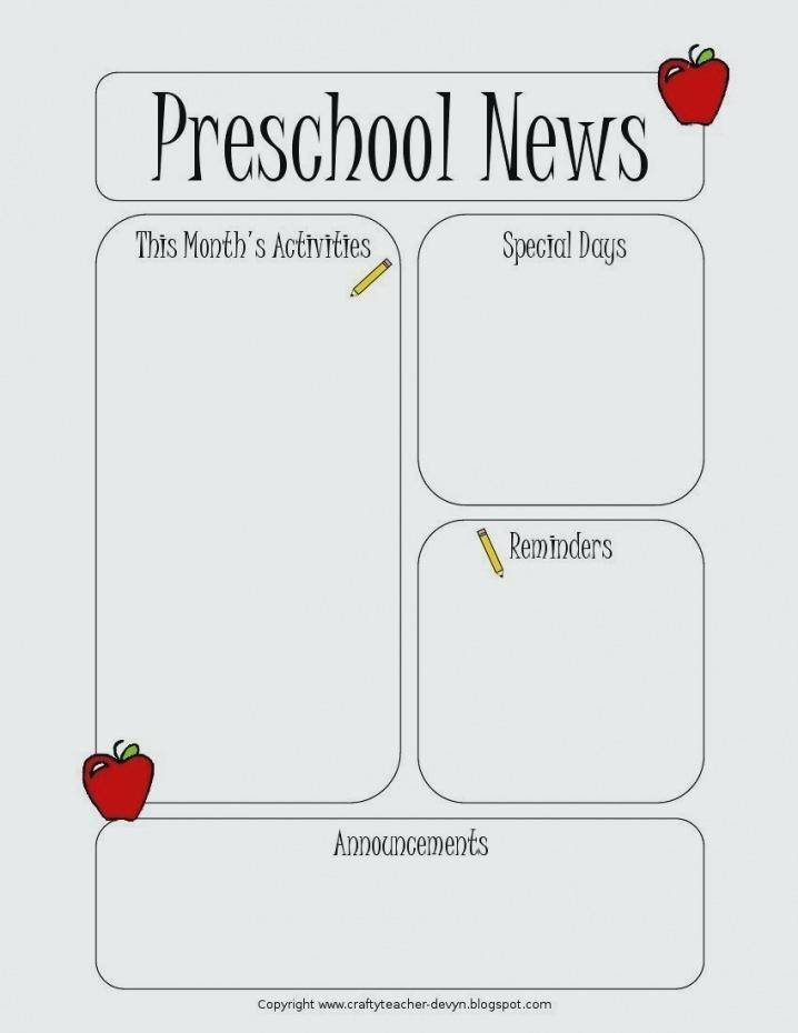 Monthly Newsletter Template For Teachers