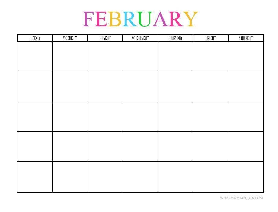 Monthly Planning Calendar Template 2017