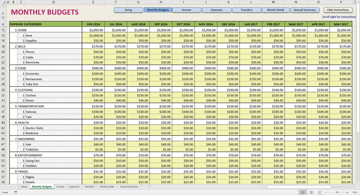 Monthly Report Template Excel Download