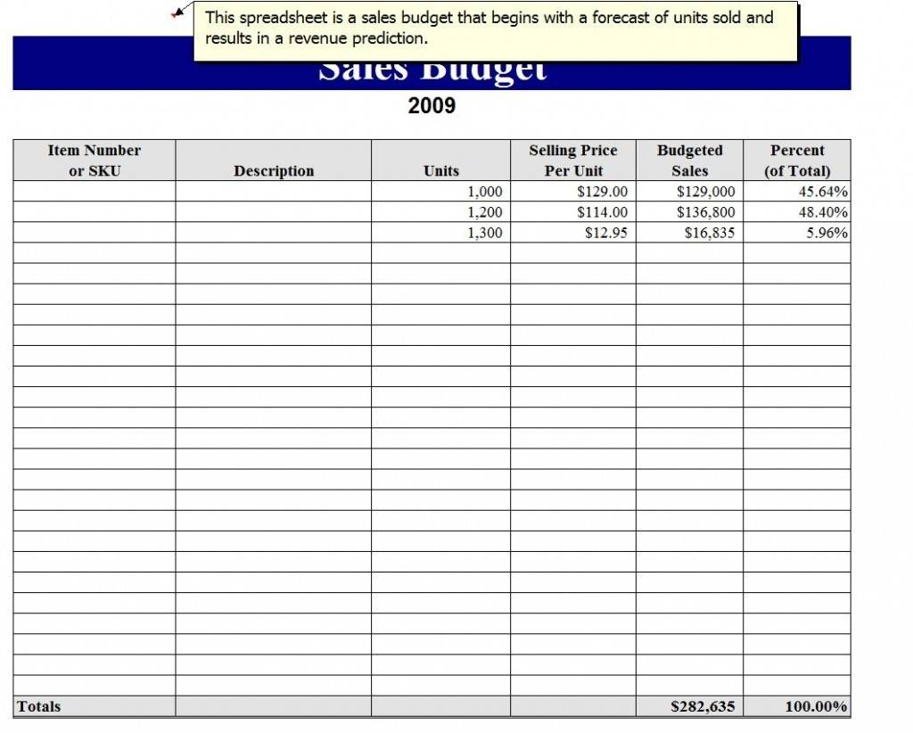 Monthly Sales Tracking Excel Template