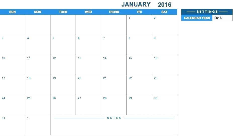 Monthly Schedule Calendar 2017 Template