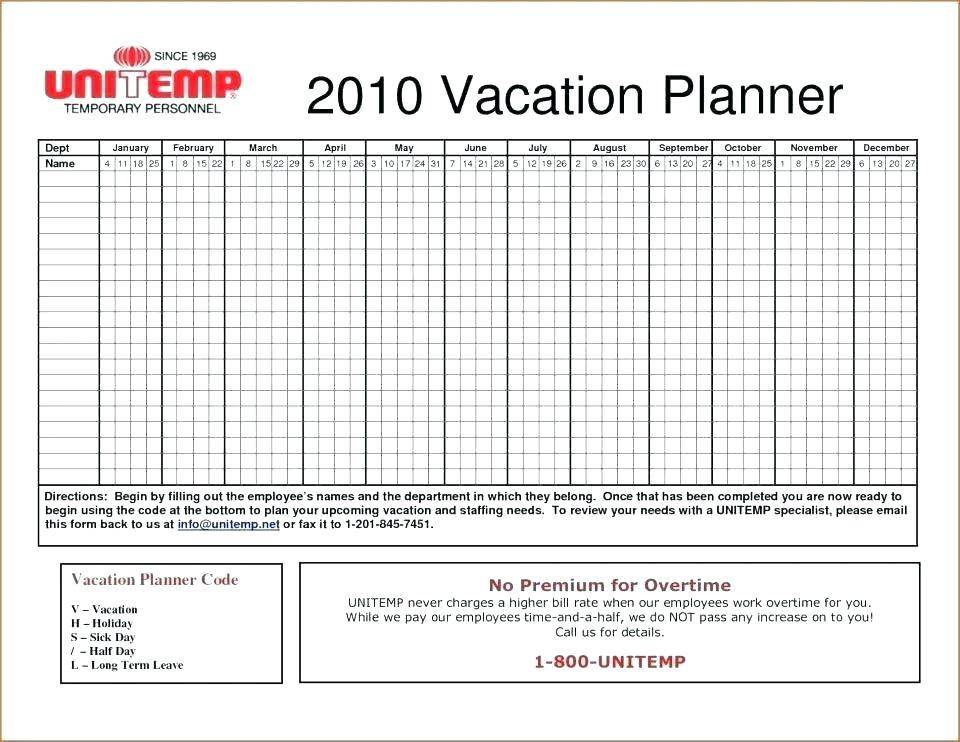 Monthly Schedule Excel Template 2018