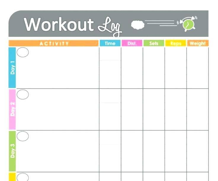 Monthly Workout Schedule Template 2017