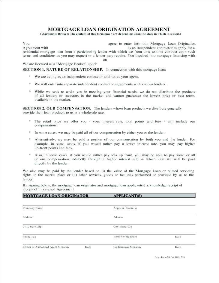 Mortgage Agreement Template Free