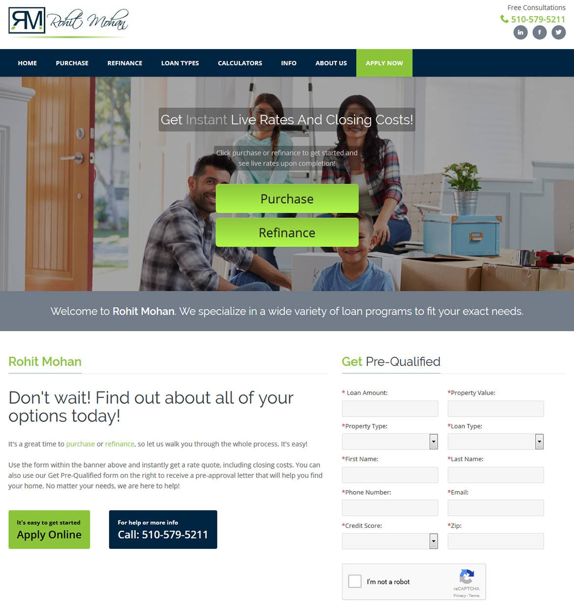 Mortgage Landing Pages Templates