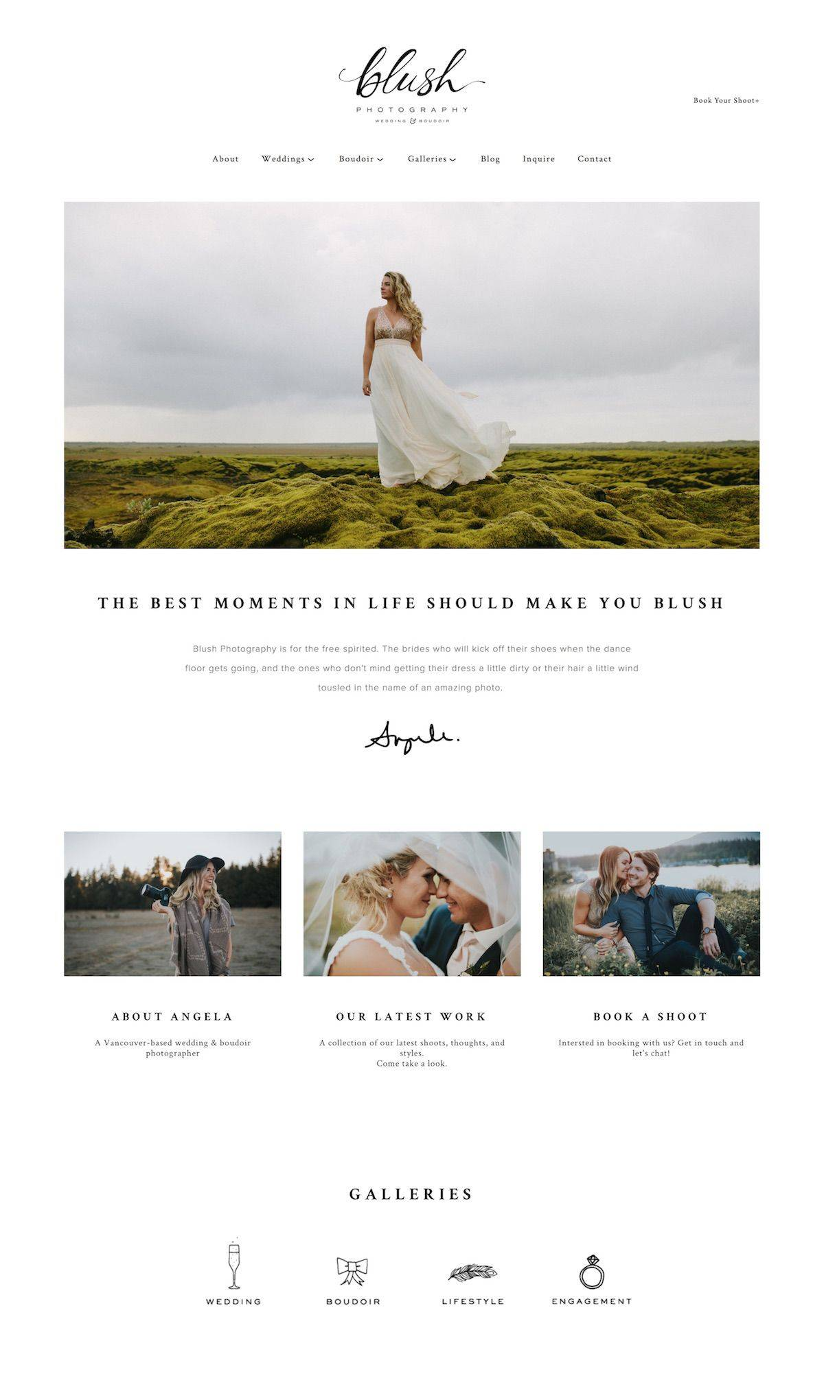 Most Popular Squarespace Template For Photographers