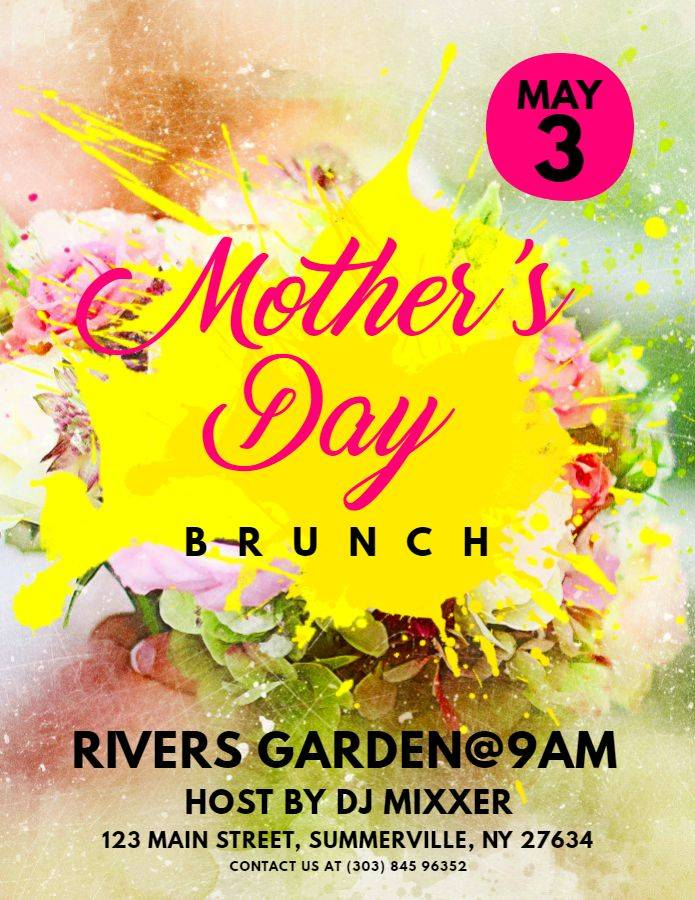 Mother's Day Brunch Flyer Template