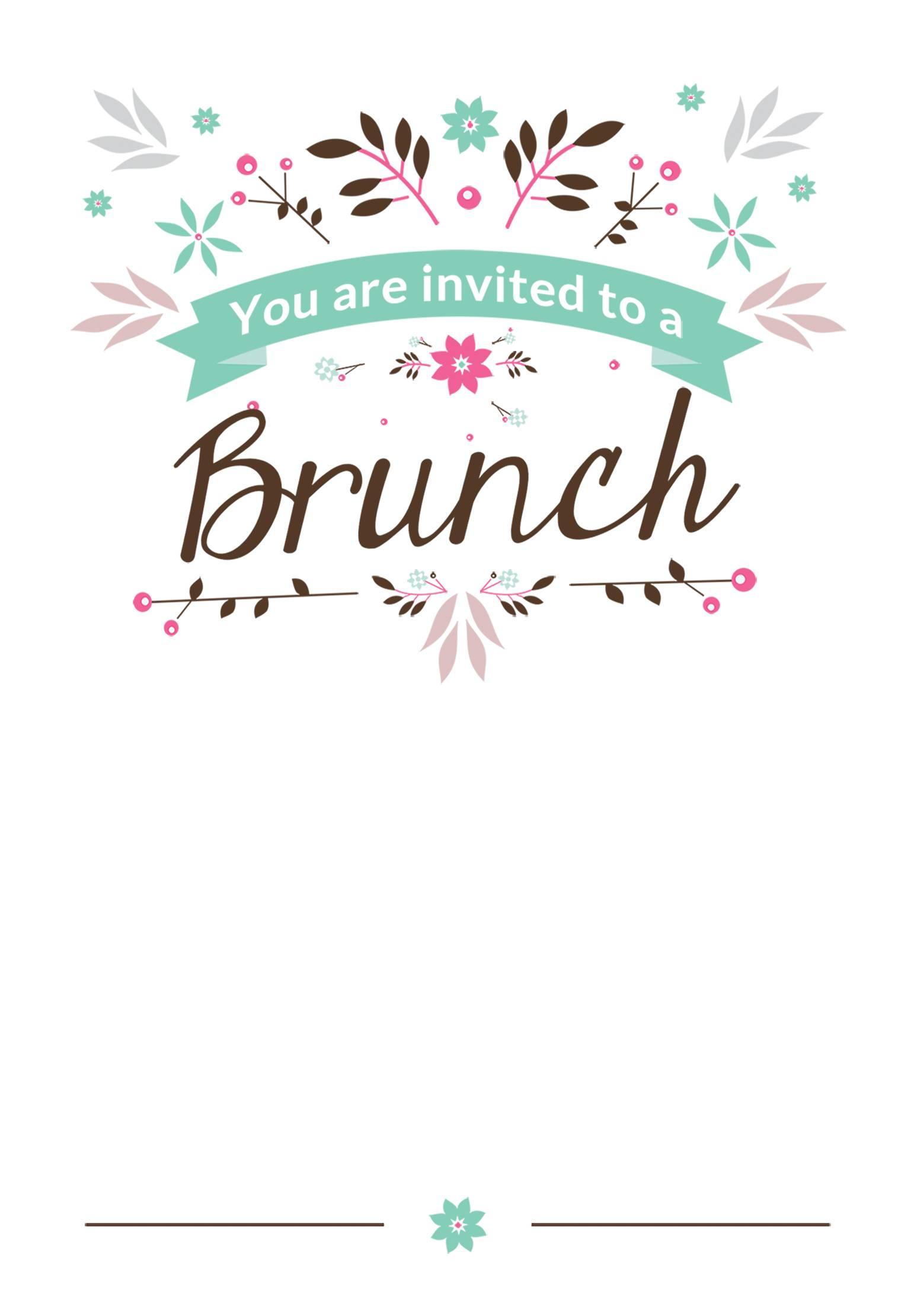Mother's Day Dinner Invitation Template Free