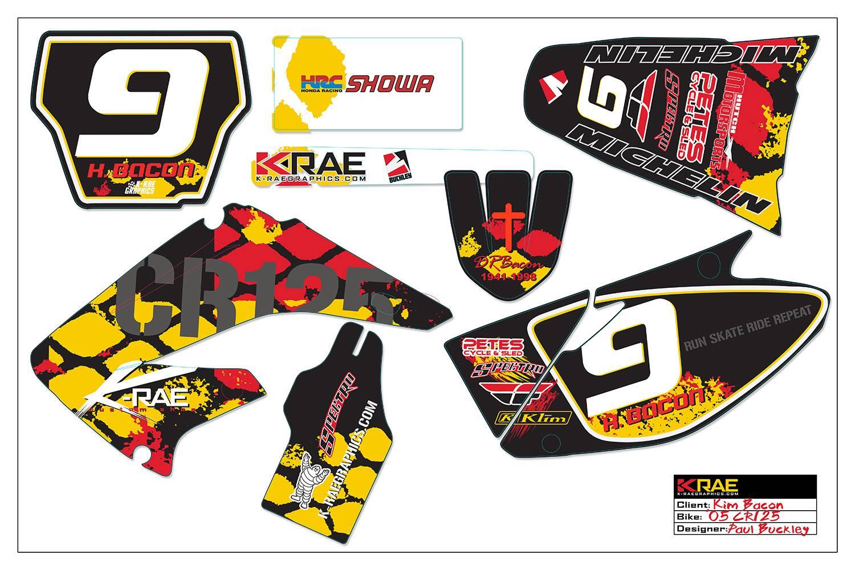 Motocross Bike Graphics Templates