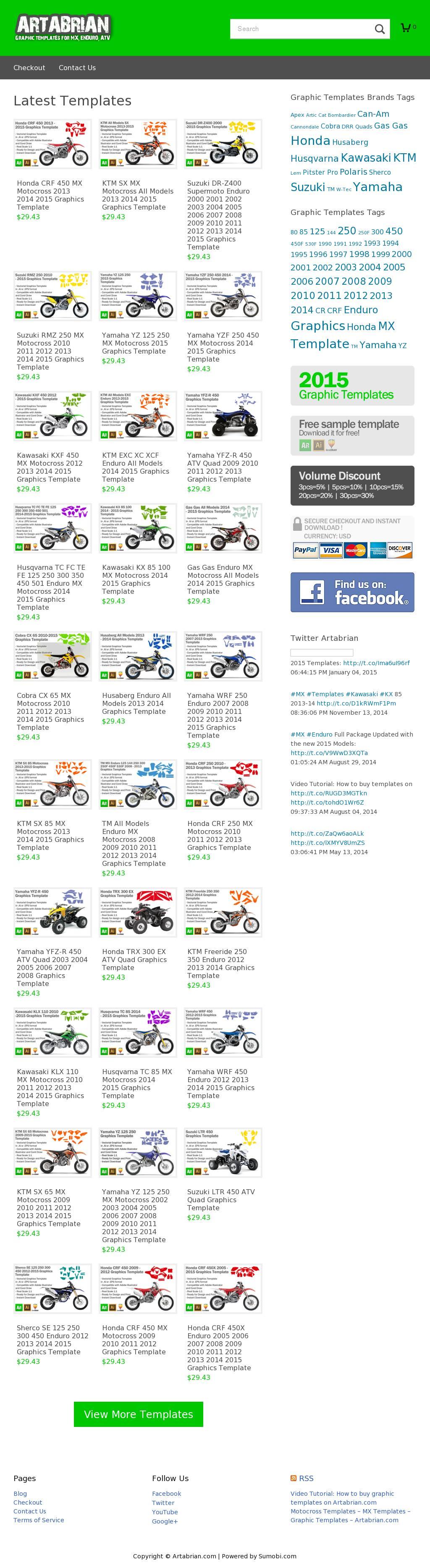 Motocross Graphic Templates