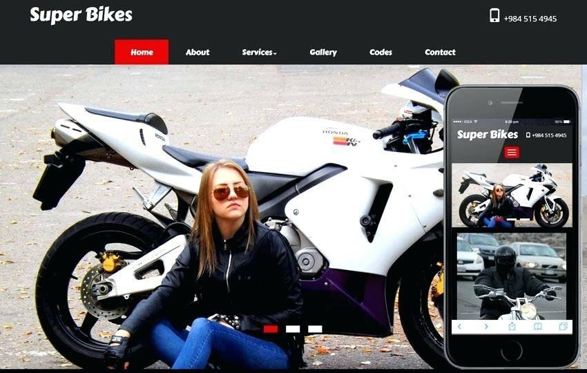 Motorcycle Club Website Template Free