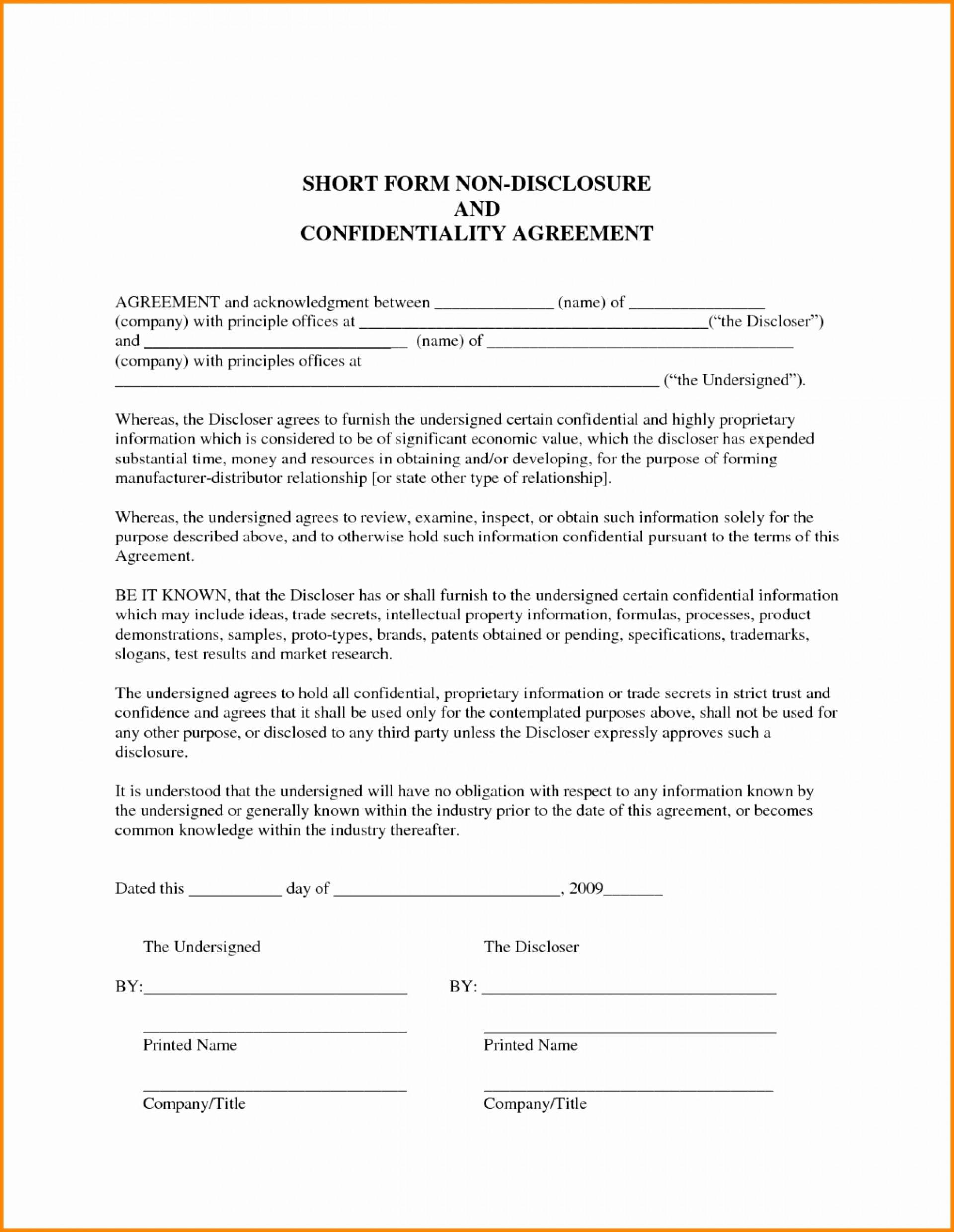 Mou Agreement Form
