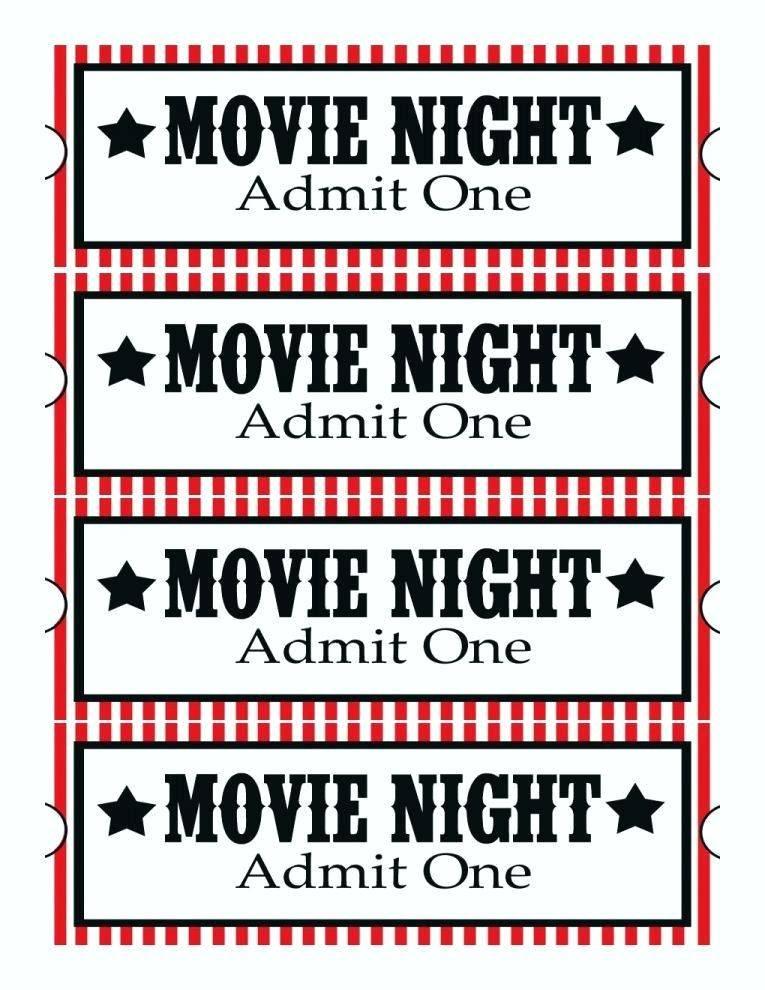 Movie Night Birthday Party Invitation Template