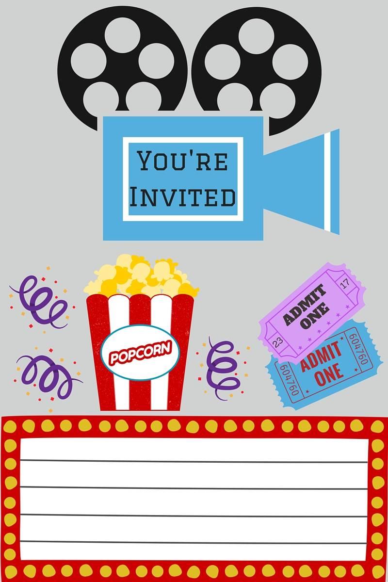 Movie Night Invitation Template Free