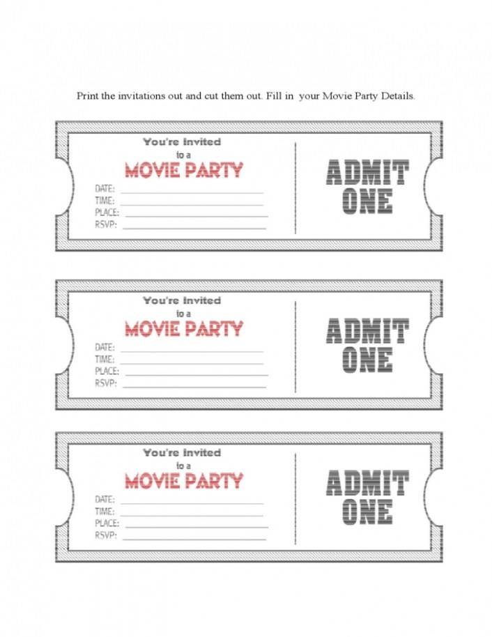 Movie Night Invite Template Free