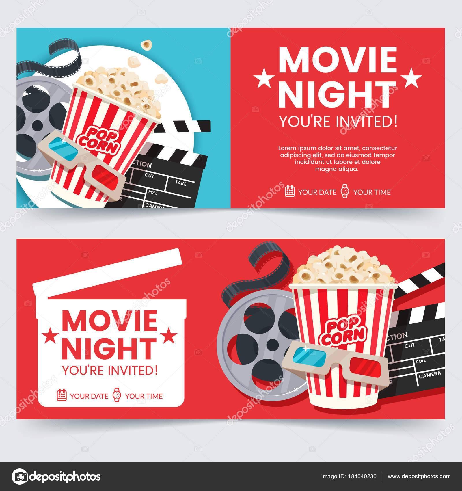 Movie Poster Invitation Template