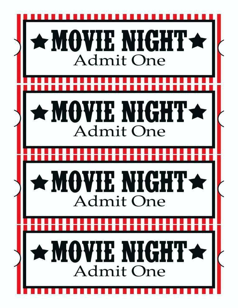 Movie Theater Invite Template
