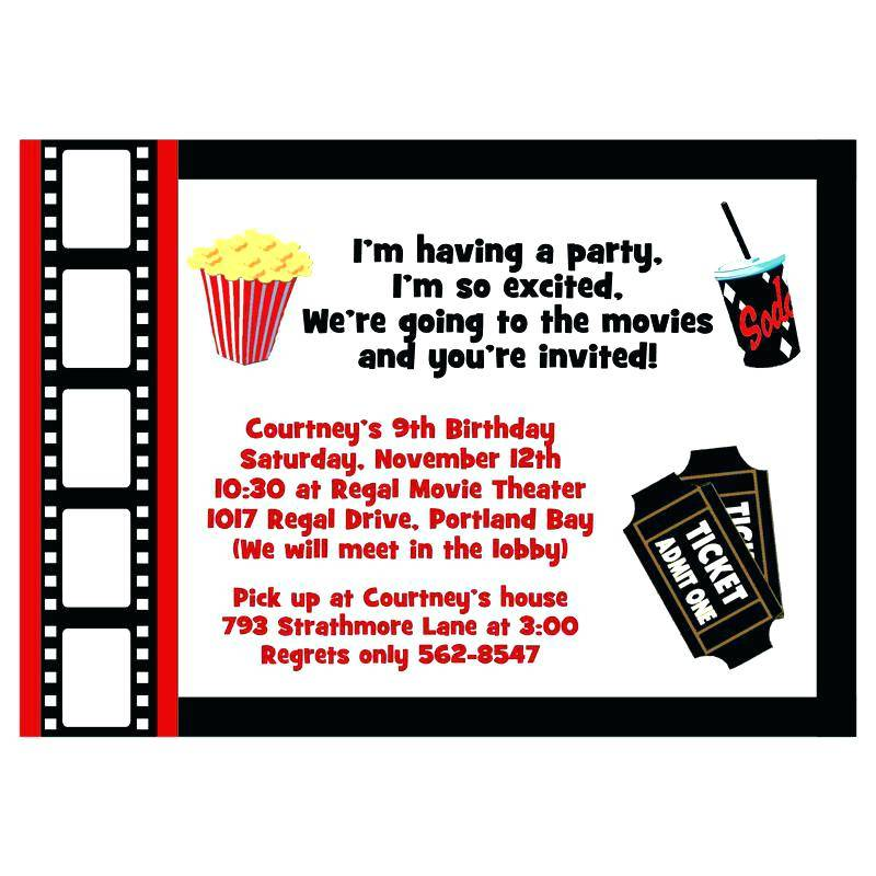 Movie Theater Ticket Invitation Template