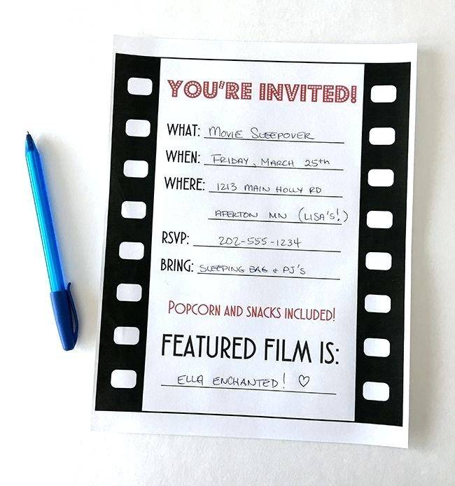 Movie Themed Birthday Invitation Templates