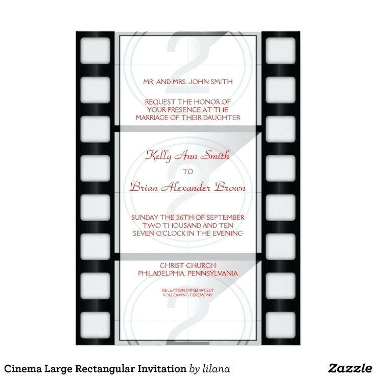 Movie Themed Invitation Template Free