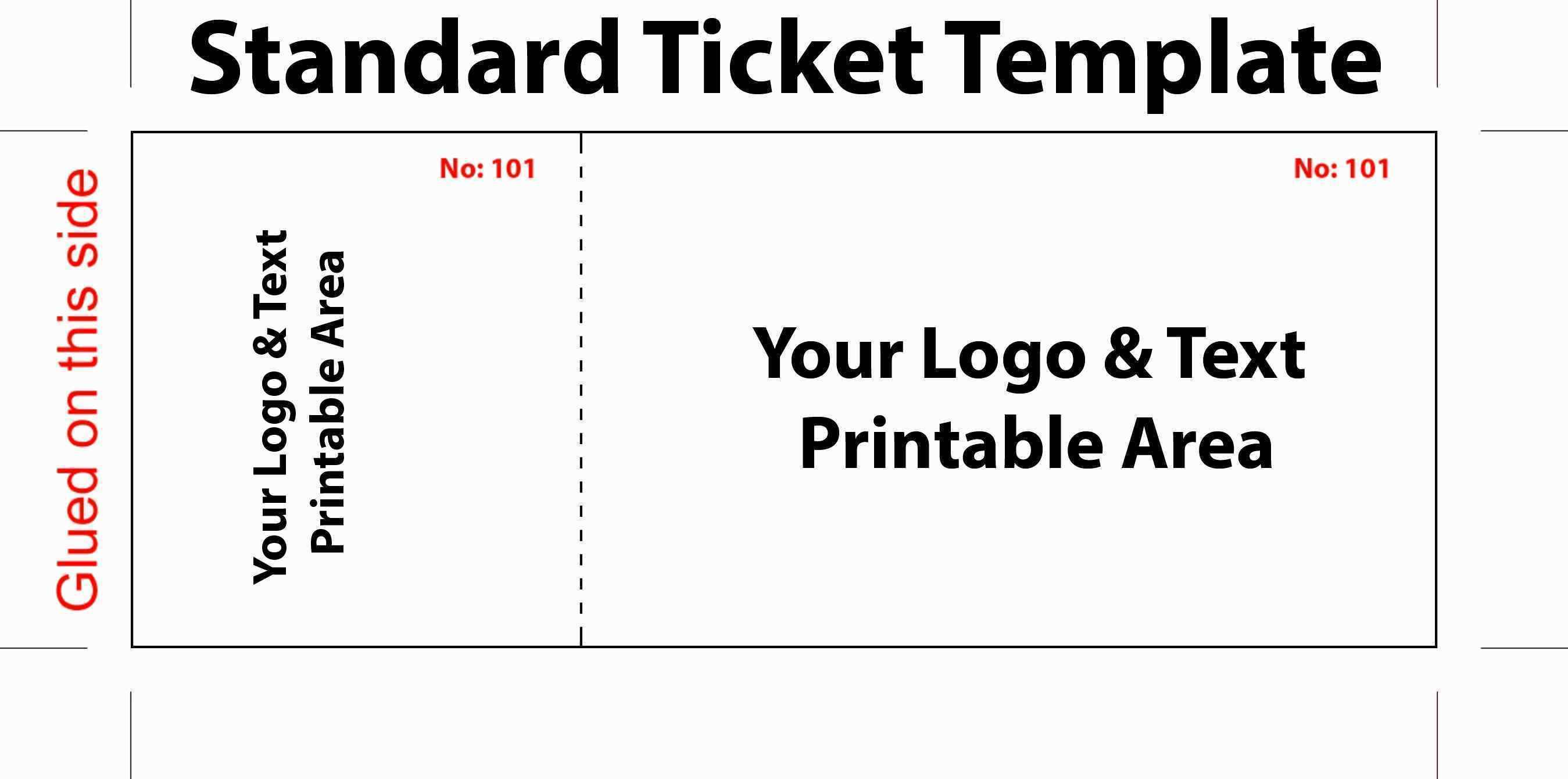 Movie Ticket Template Microsoft Word