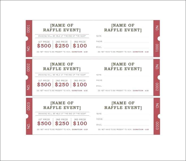 Movie Ticket Templates For Word
