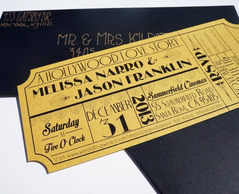 Movie Ticket Wedding Invitations Template