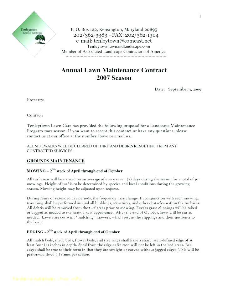 Mowing Contract Template