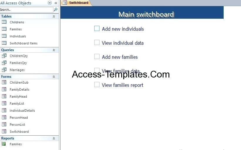 Ms Access 2007 Templates For Small Business