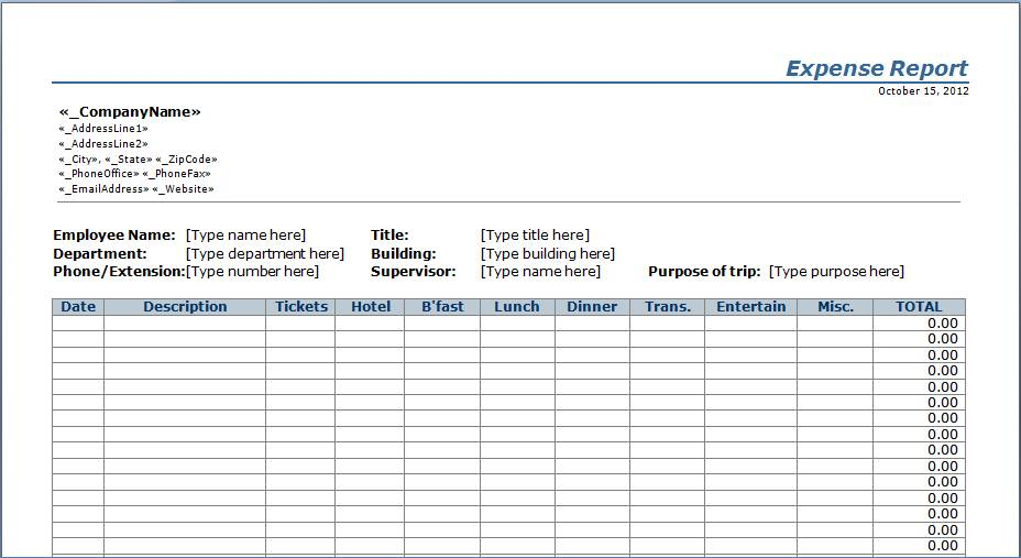 Ms Excel Estimate Template