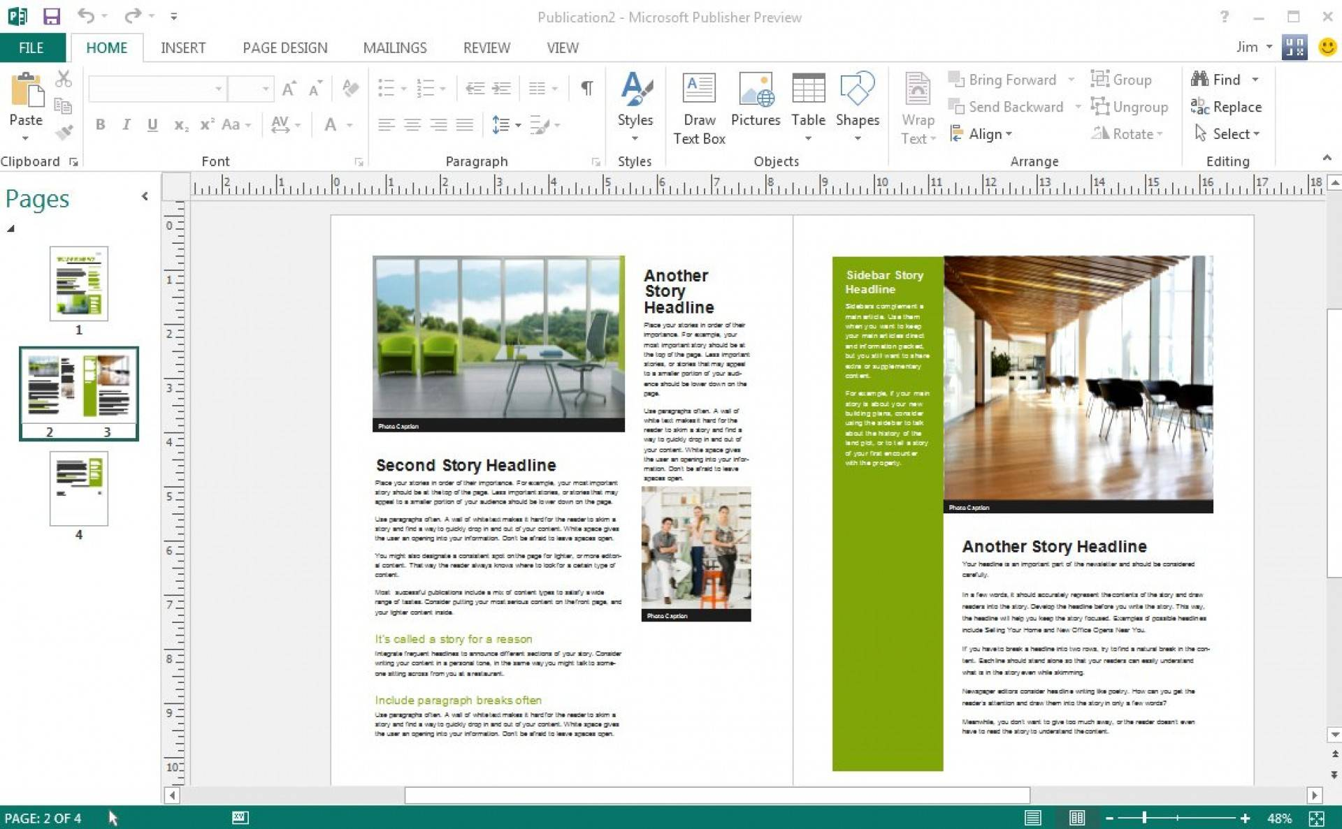 Ms Office Publisher Newsletter Templates