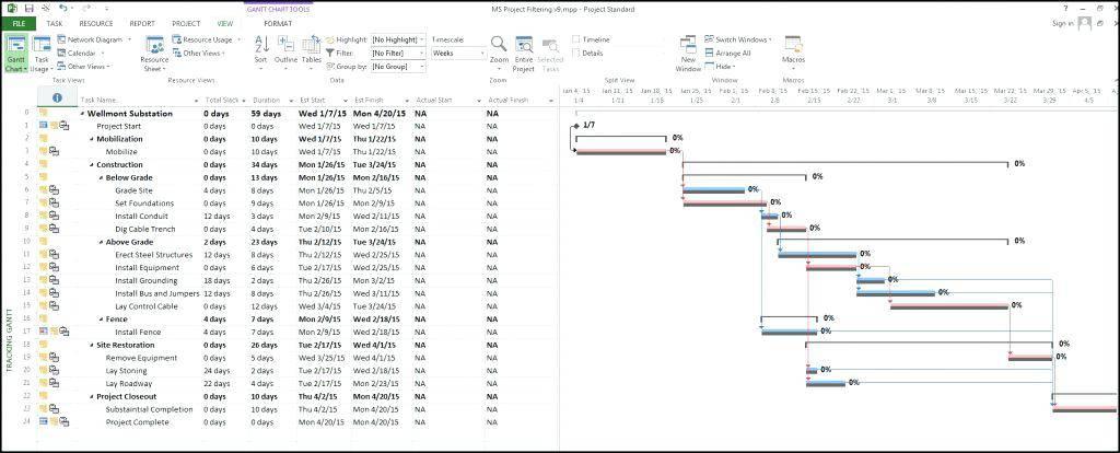 Ms Project 2010 Timeline Format