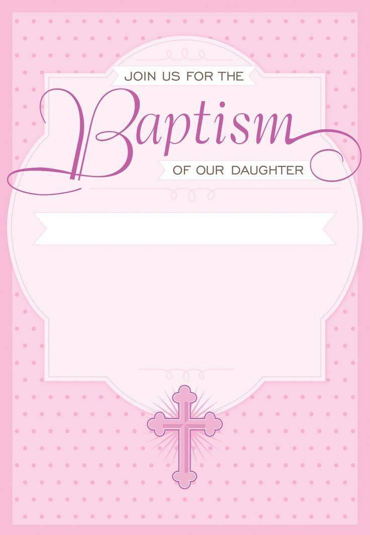 Ms Word Baptism Invitation Templates Free Download