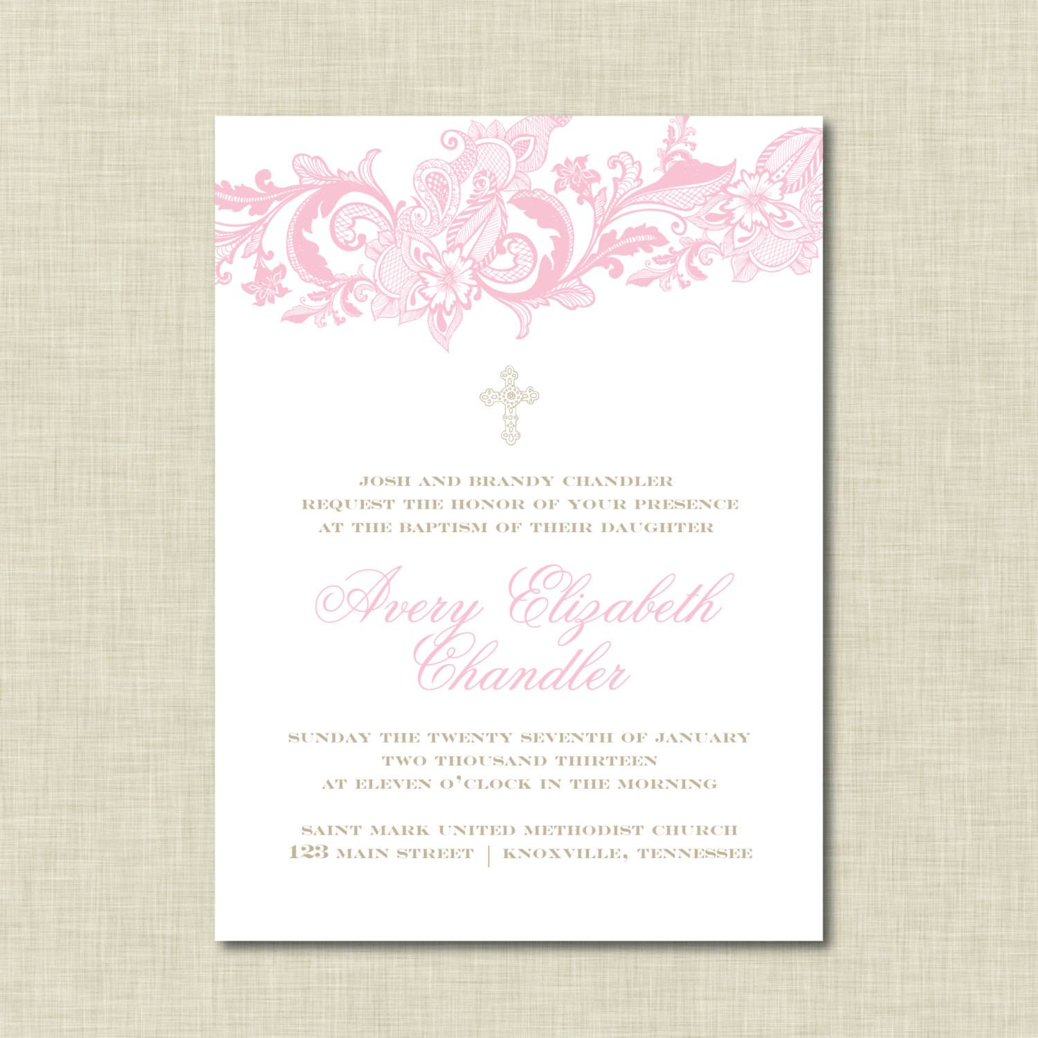 Ms Word Christening Invitation Templates Free Download