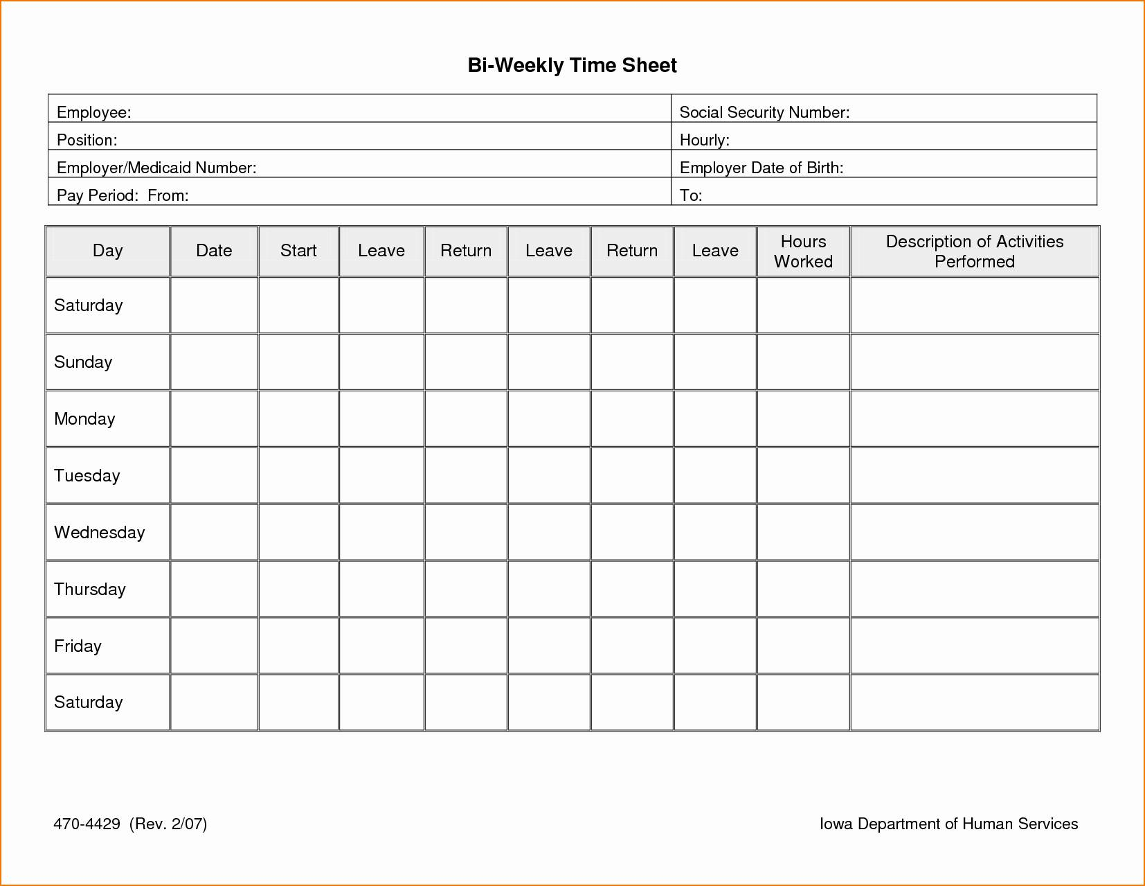 Multiple Employee Timesheet Template Excel