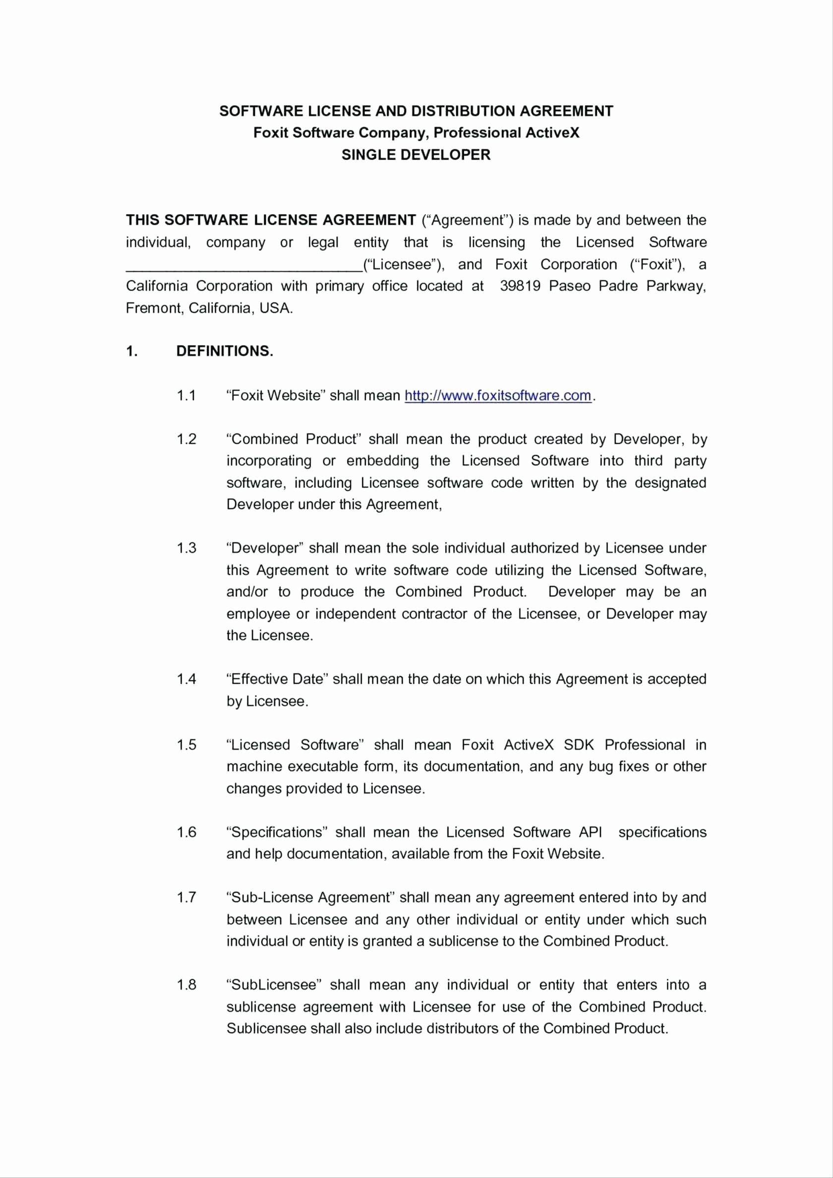 Music Distribution Agreement Template