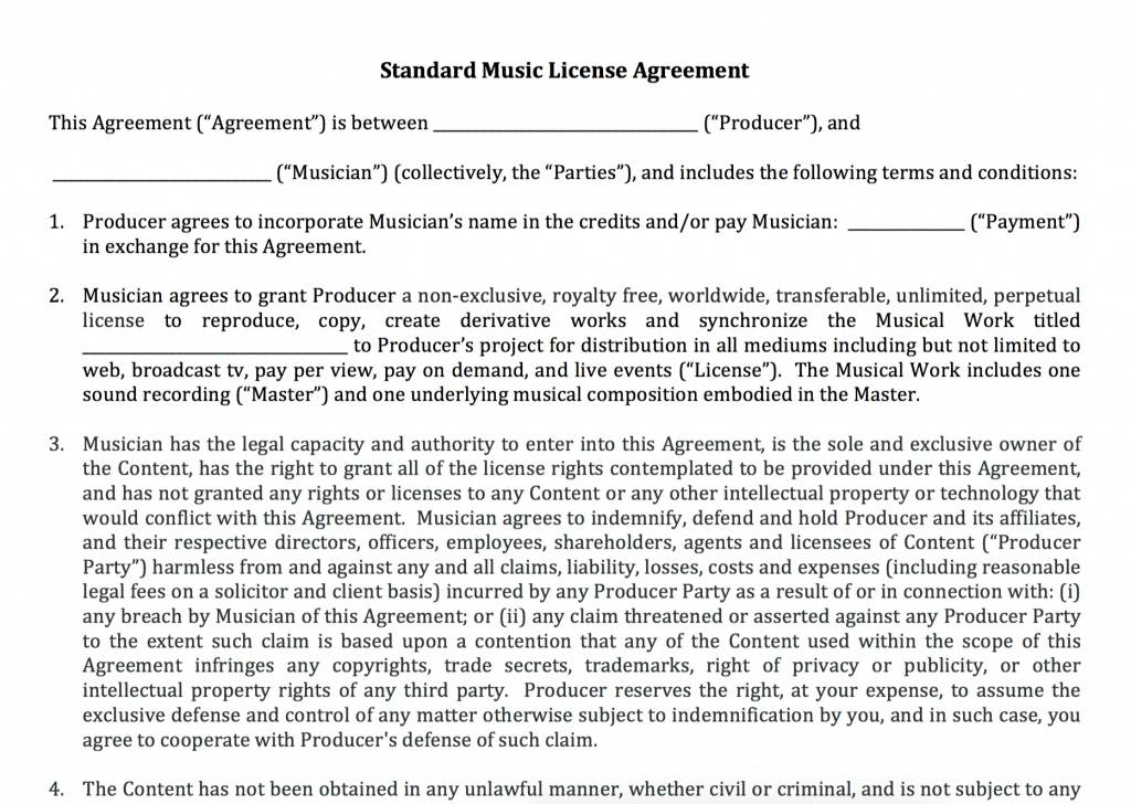 Music Executive Producer Contract Template