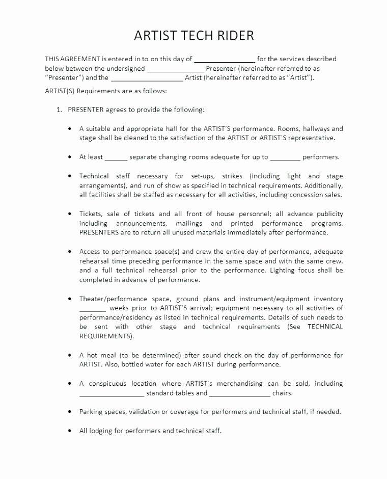 Music Performance Contract Template Pdf