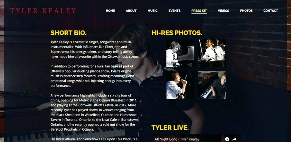 Music Press Kit Template Free