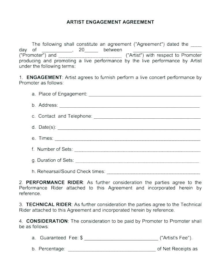 Music Royalty Agreement Template