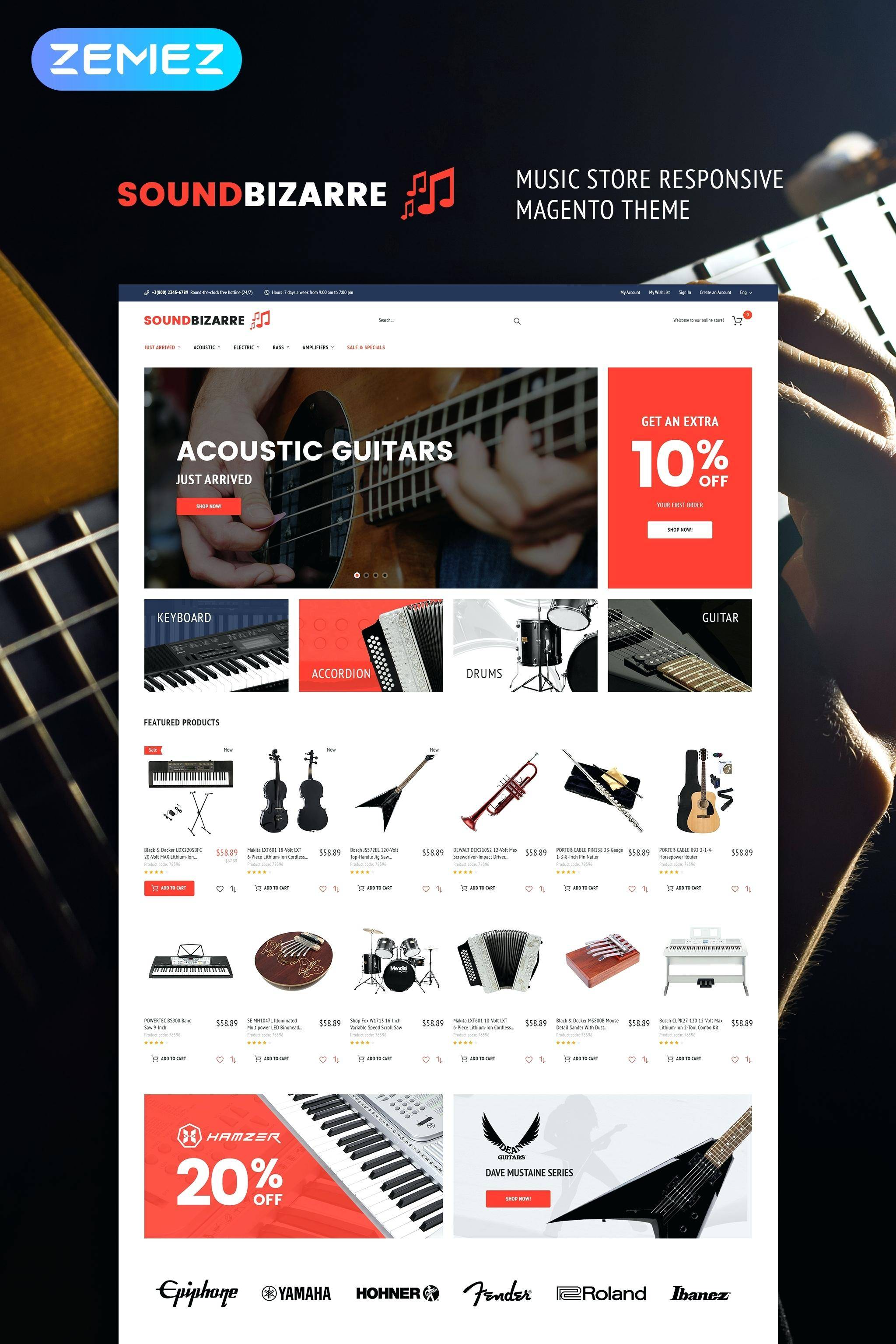 Music Store WordPress Templates