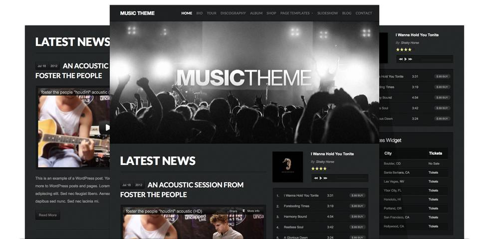 Music WordPress Templates