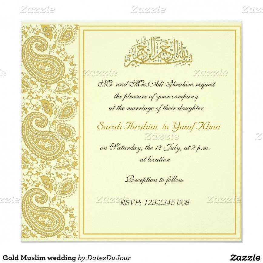 Muslim Wedding Invitation Templates