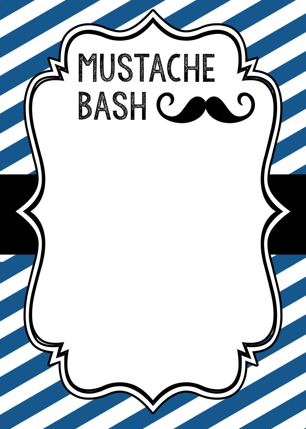 Mustache Invitation Template